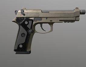 3D asset The Pistol Beretta M9 Sand