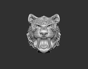 3D print model tiger head jewelry
