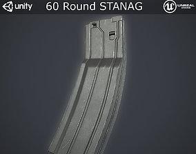 3D asset Sixty Round STANAG Magazine