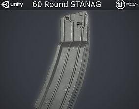 Sixty Round STANAG Magazine 3D model low-poly