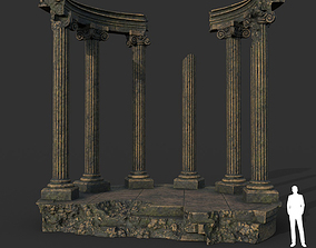 Low poly Ancient Roman Ruin Construction 05 - 3D model 1