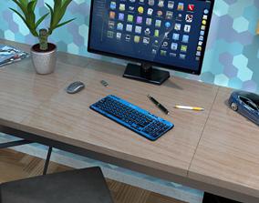 Logitech K360 wireless multimedia keyboard - 3D asset 3