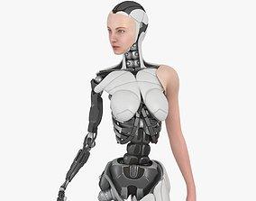 The cyborg girl Bella 3D asset animated