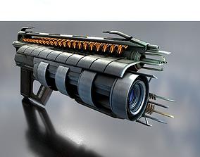 Multi Gun game ready 3D asset