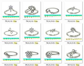 3D print model Collection 38 Women Ring render stl 1