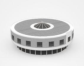 3D skyscraper Huge Round Industrial Building