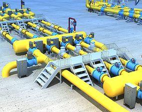 3D model Middle east natural gas station
