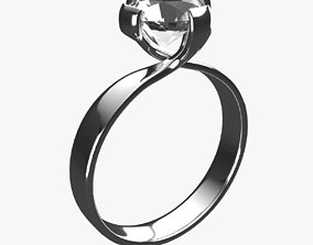 3D model outline Diamond Ring