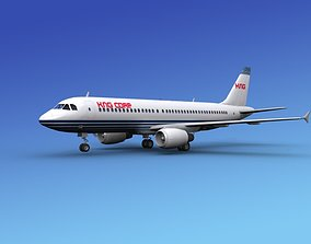 3D Airbus A320 Corporate 2