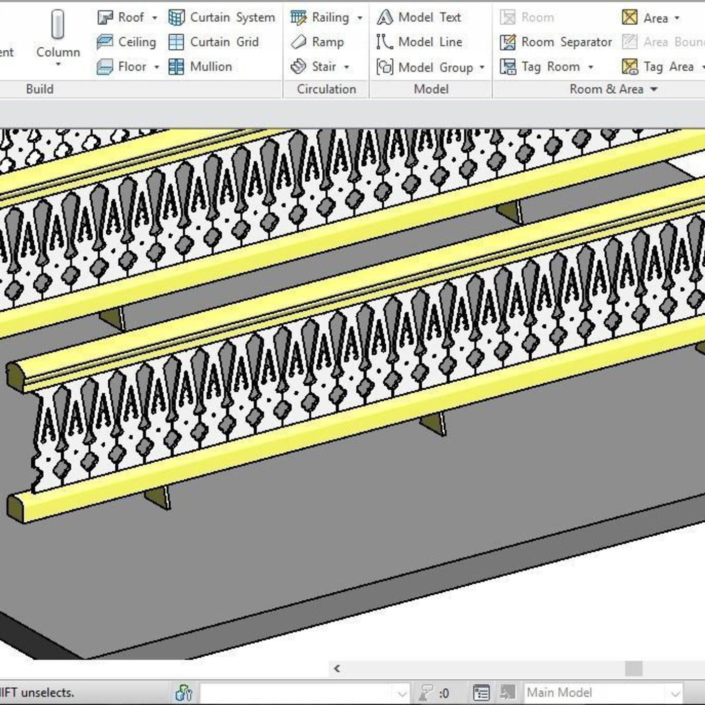 3D Rail Revit Family 2015 model   CGTrader