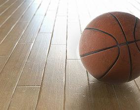 3D Basketball on Gym Floor