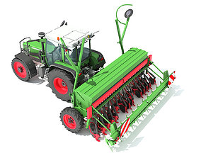 drill Tractor with Seed Drill 3D