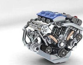 3D model khelifaoui k-motor v6 bi-turbo