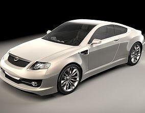 3D Generic sports car 02