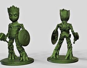 Groot captain america 3D print model