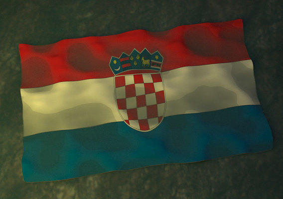 Crotia 3D flag Design