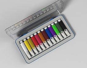 tubes of paint 3D