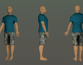 3D asset Low Poly Man - IK Rigged