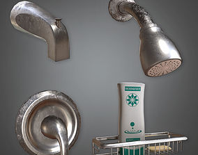 Wall Mounted Shower Set HVM - PBR Game Ready 3D model