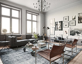 Stockholm Interior scene room 3D model