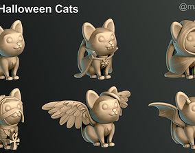 3D print model Halloween Cats
