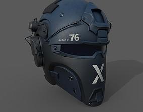 Helmet scifi military combat ver2 3D asset