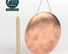 Chinese handheld gong 3D model