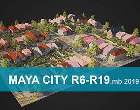 City District R6-R19 MAYA 3D asset