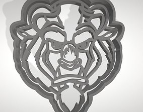 3D print model The Beast cookie cutter with intricate