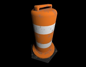3D model game-ready PBR stop Traffic cone