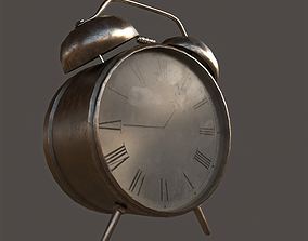 low-poly Old Alarm Clock Low Poly 3D model