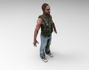 3D model Gangster Human Character