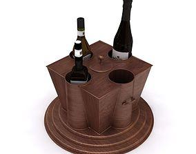 Container Kichen Wine Bottles 3D
