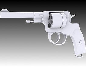 3D asset Nagant M1895 Revolver