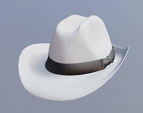 3D asset game-ready fedora hat