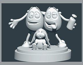 Eggtoon Happy Easter 3D printable model