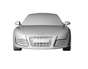 3D model Audi R8 surface design