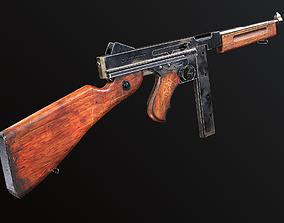 3D model low-poly M1a1 Thompson