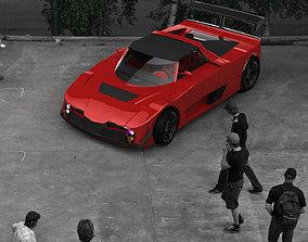 3D model Supercar Challenge