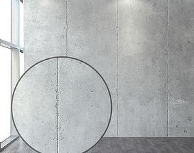 Concrete with a vertical seam 3D model