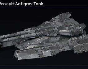 Scifi Golem Assault Antigrav Tank 3D asset