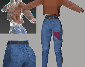 jeans and a sweater 3D