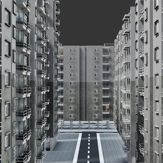 Low poly Modular Apartments