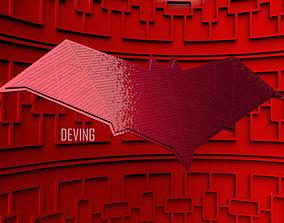 3D printable model RED HOOD CHEST EMBLEM-JL TEXTURE