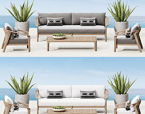 upholstery 3D model MALTA TEAK COLLECTION