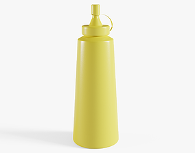 3D model Mustard Bottle