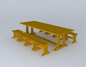 Patio Table 3D model