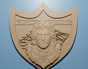 Jon Snow Winter is Coming relief model in stl 3D for CNC