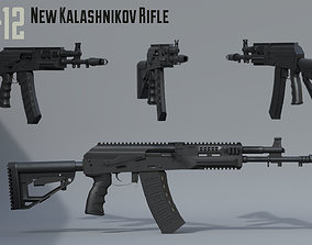 3D model AK12 New Kalashnikov assault rifle