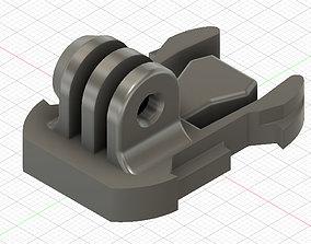 Action camera mount 3D print model